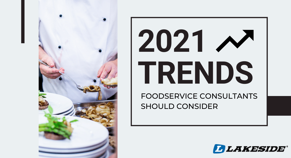"""image of chef plating food with text """"2021 trends"""""""